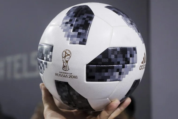 The official game ball for the upcoming 2018 FIFA World Cup soccer tournament in Russia.