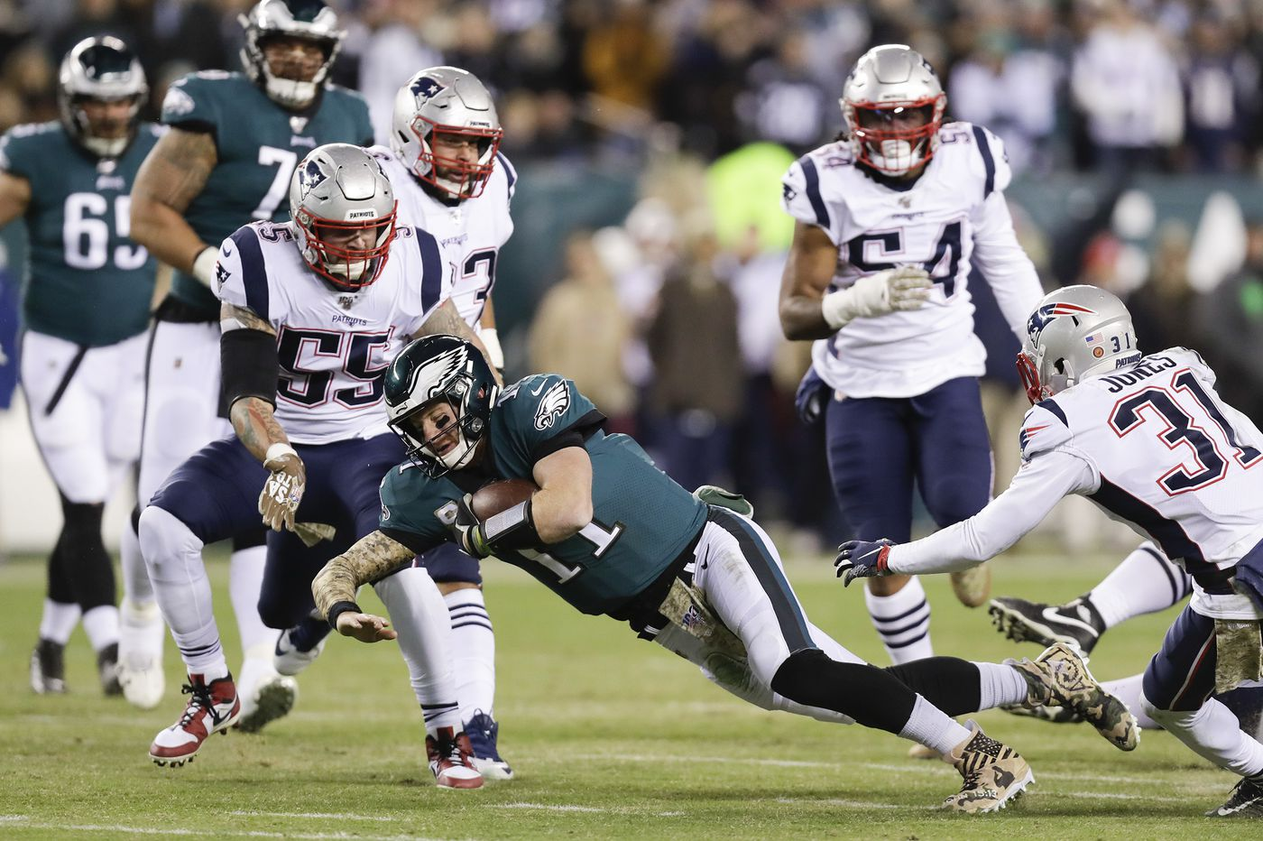 Eagles-Patriots Up-Down Drill: Carson Wentz didn't deliver, but cornerbacks excelled
