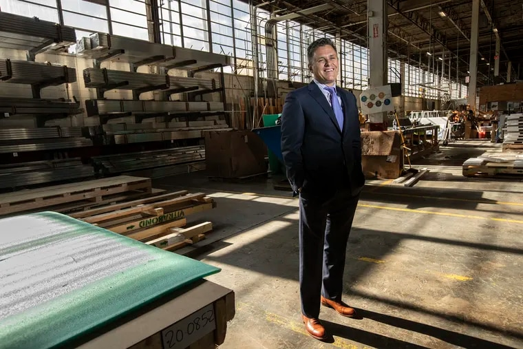 Edward DeAngelis, the owner of EDA Contractors, one of the 2020 Top Workplaces, at his industrial workplace in Bensalem, PA  on February 27, 2020. EDA Contractors specializes in commercial and industrial roofing and sheet metal, air and vapor barriers and wall panels.