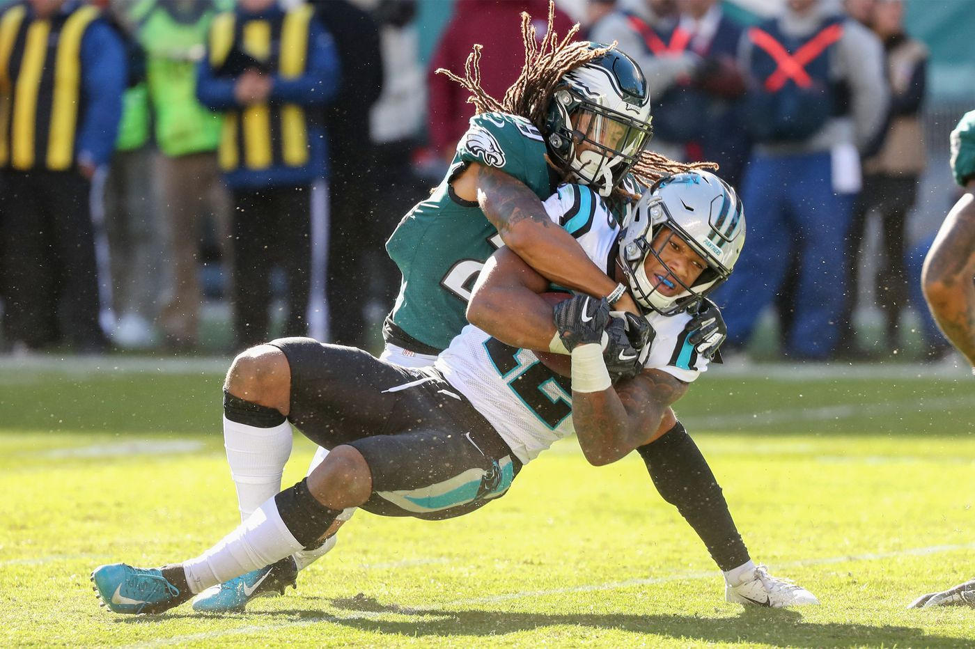 How thin is the Eagles' secondary? Dexter McDougle joined the team on Tuesday and started in Sunday's loss to the Panthers.