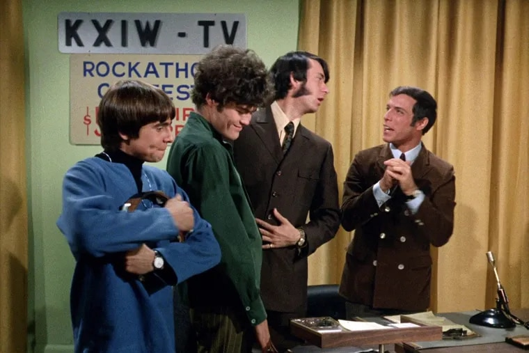 Davy Jones, Micky Dolenz, Mike Nesmith and Jerry Blavat on The Monkees