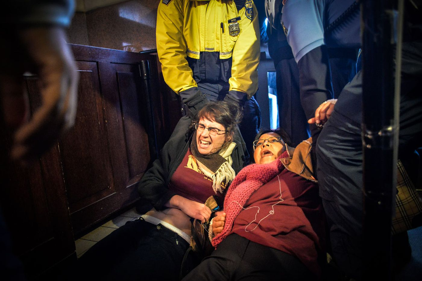 Immigration activists removed at City Hall