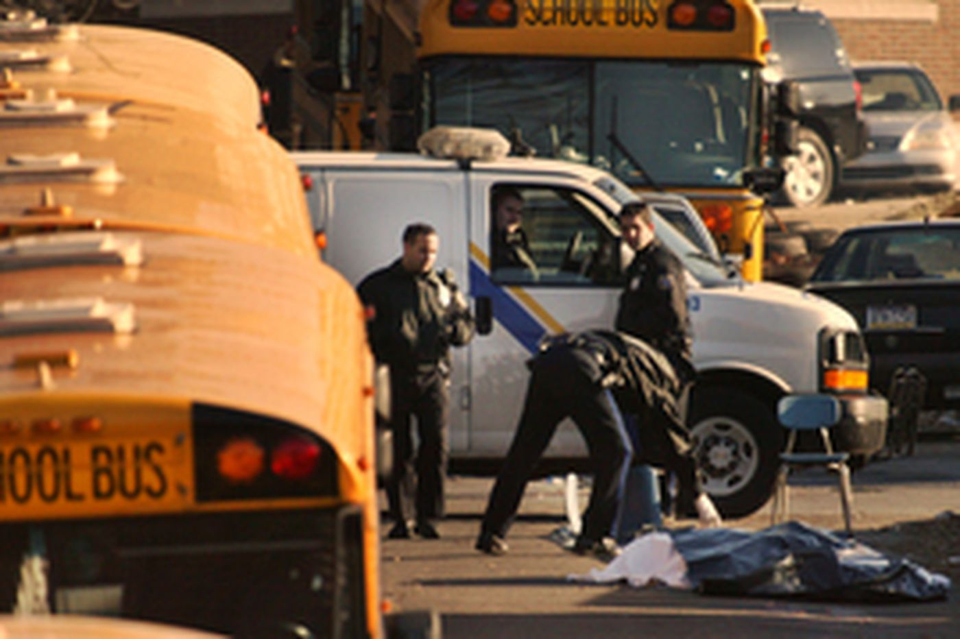 School bus hits aide, killing her