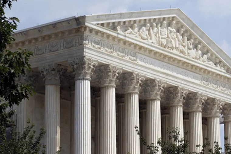 The U.S. Supreme Court is seen Wednesday, June 20, 2012 in Washington. (AP Photo/Alex Brandon)