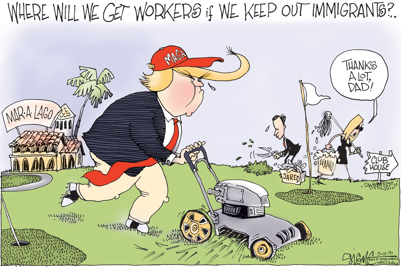 Political Cartoon: Mar-A-Lago immigrant workers