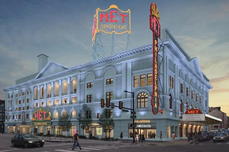 Artist's rendering of Metropolitan Opera House at 858 N. Broad St. following renovations. Credit: Atkin Olshin Schade Architects