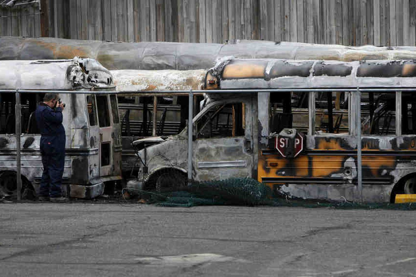 Blaze at Bordentown district's bus yard shuts schools for the day