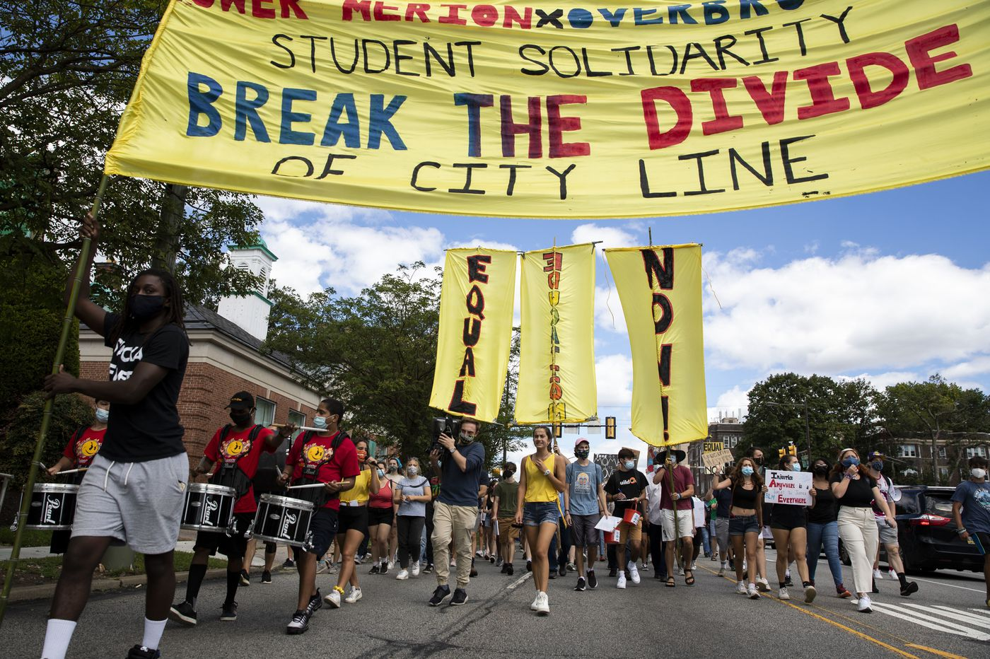 Students protest education inequity in march from Lower Merion to Philly's Overbrook High School