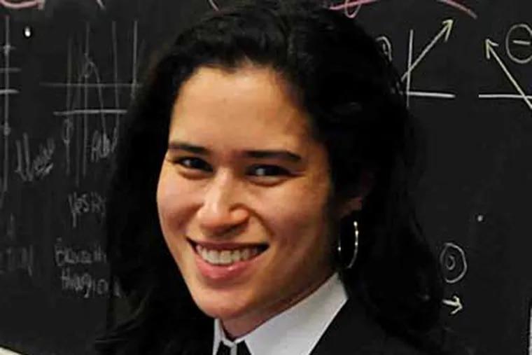 Elizabeth Randol, special-education math teacher whose job was directly linked to stimulus funding.