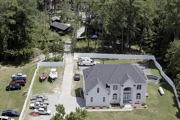 Michael Vick's former house in Surry County, Virginia is being transformed into an animal sanctuary. (AP Photo/Steve Helber, File)