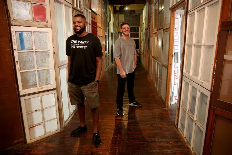 In REC Philly, cofounders Will Toms (left) and Dave Silver want to support and grow Philadelphia's creative economy.