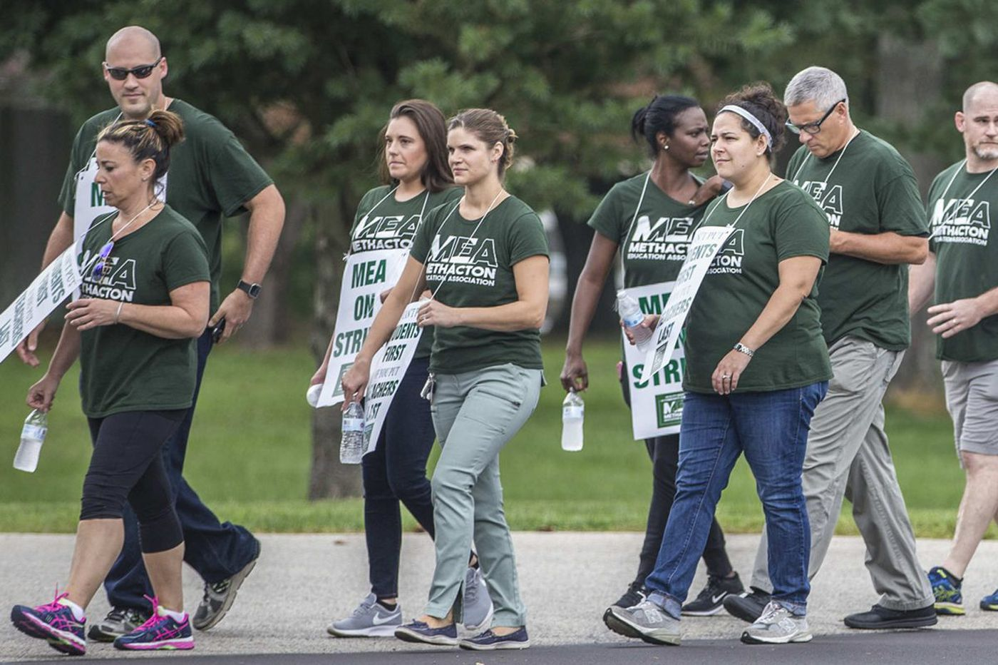 Methacton teachers go on strike; district cancels classes