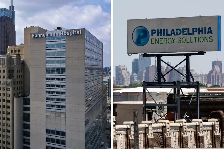 Hahnemann Hospital and the Philadelphia Energy Solutions oil refinery announced their closures on June 26, 2019.