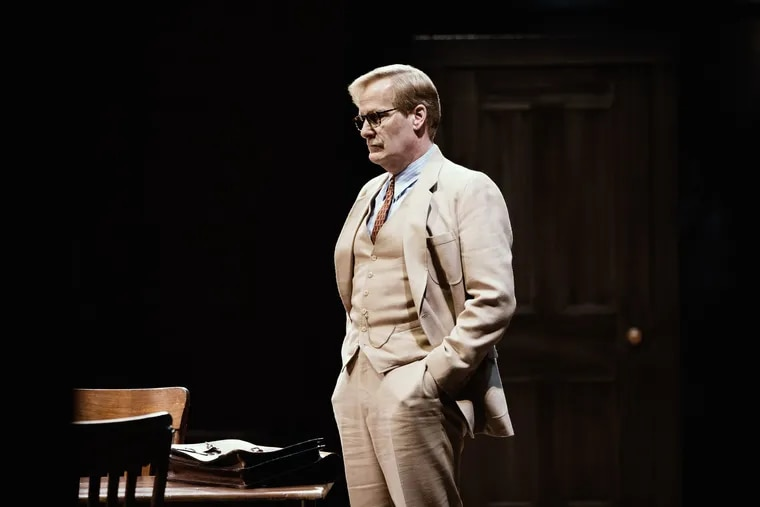 """Jeff Daniels has been nominated as best leading actor for his role as Atticus Finch in Aaron Sorkin's Broadway adaptation of """"To Kill a Mockingbird."""" This year's Tony Awards will be broadcast June 9."""