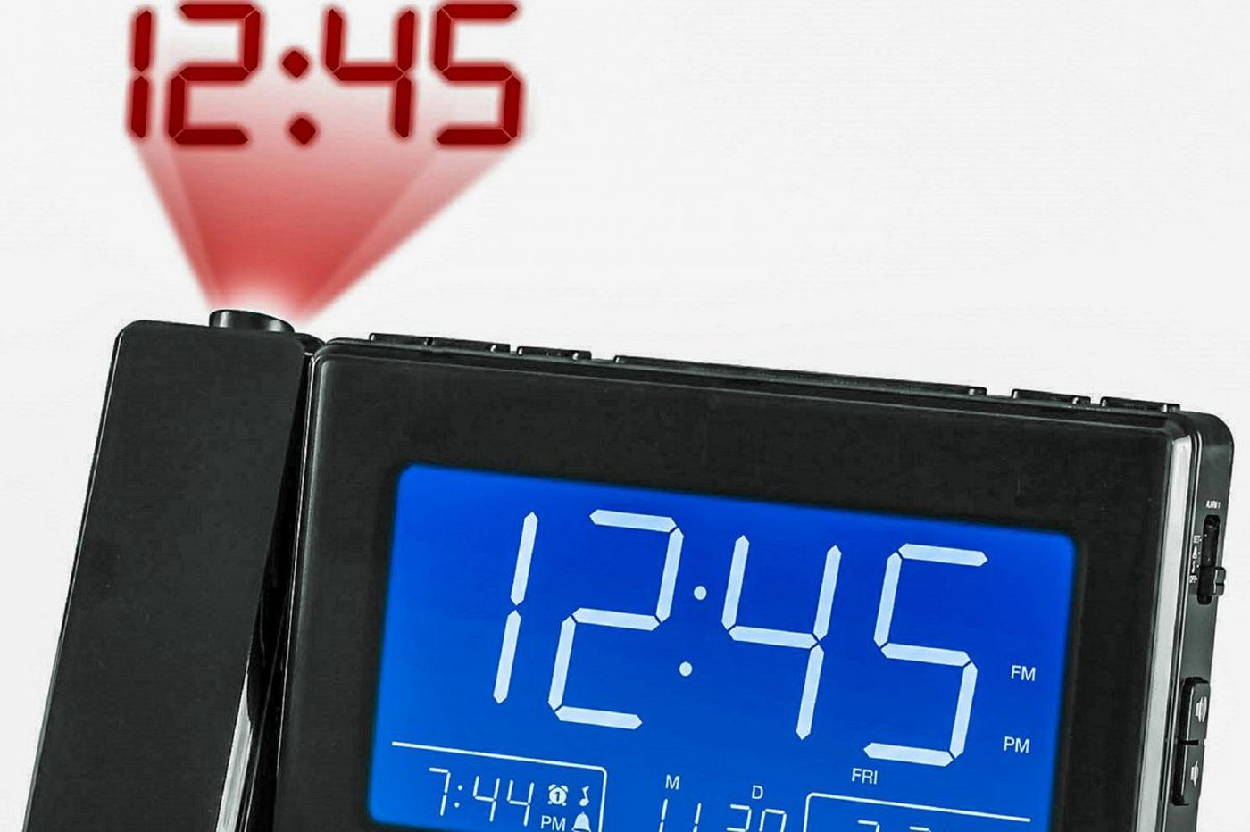 Magnasonic Alarm Clock Radio with Time Projection