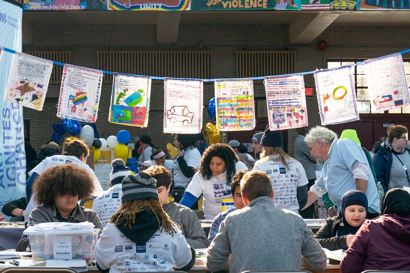Volunteers dream up a world without gun violence at King Day of Service