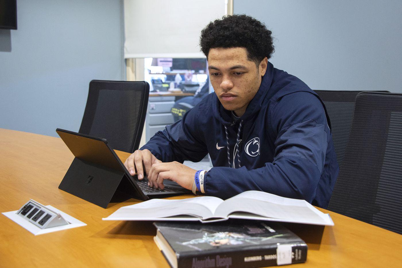 Penn State cornerback John Reid puts a lot of time into his studies, but don't call it a sacrifice