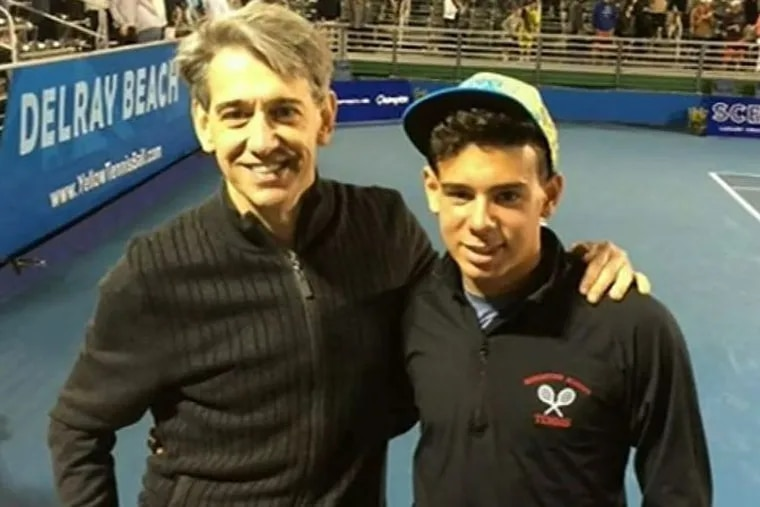 Jefferson University doctor Edmund Pribitkin, left and his son, Edik Pribitkin, who were assaulted while attending the Australian Open.