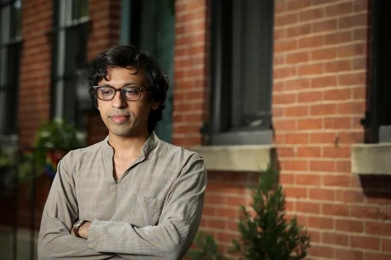 Nikil Saval outside his home in Philadelphia on June 11, 2020.