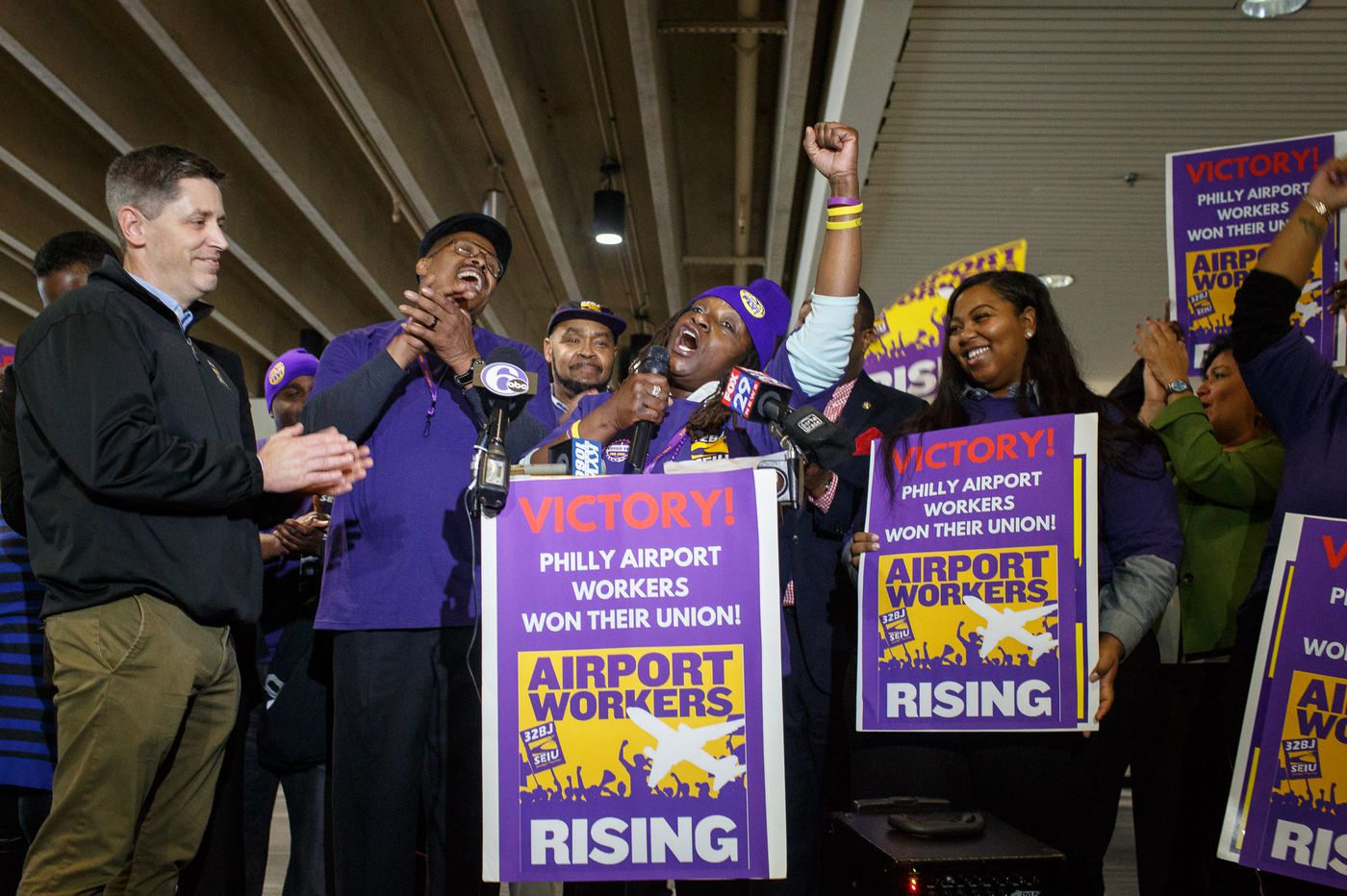 It took 6 years for PHL airport workers to double their pay to $12 an hour. Here's how they did it