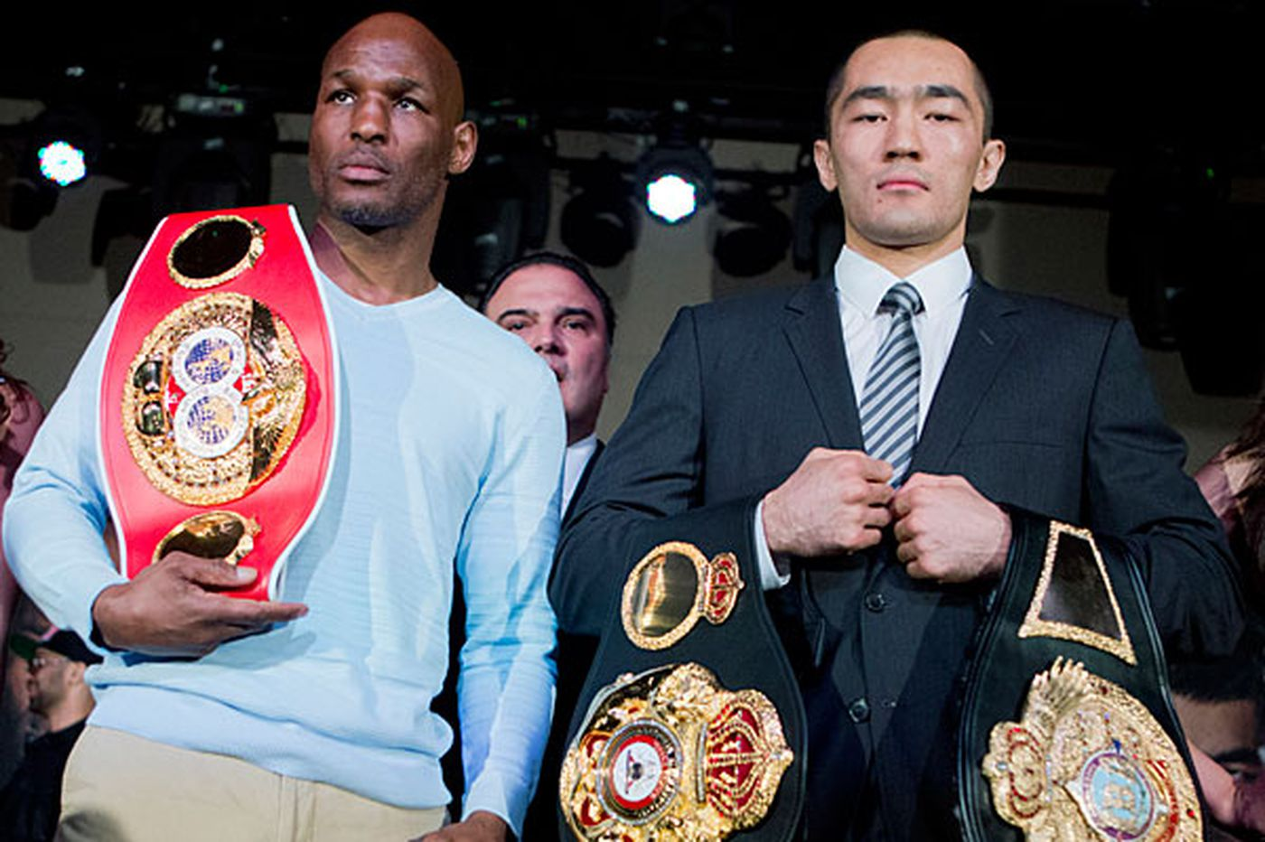 Hopkins takes a couple of belts before fight