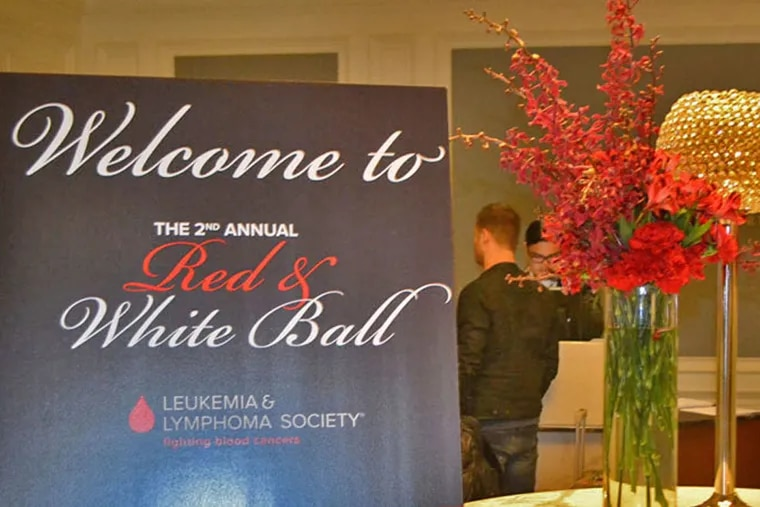 Welcome table at  the 2015 Red & White Ball for the Leukemia & Lymphoma Society at the Westin Philadelphia Hotel  on Saturday, March 21 2015 ( Maggie Henry Corcoran / For the Philadelphia Inquirer )