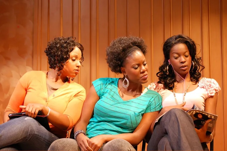 """(Left to right:) Janelle Heatley, Jaylene Clark Owens, and Hollis Heath in """"Renaissance in the Belly of a Killer Whale,"""" Feb. 22-24 at Theatre Horizon in Norristown."""