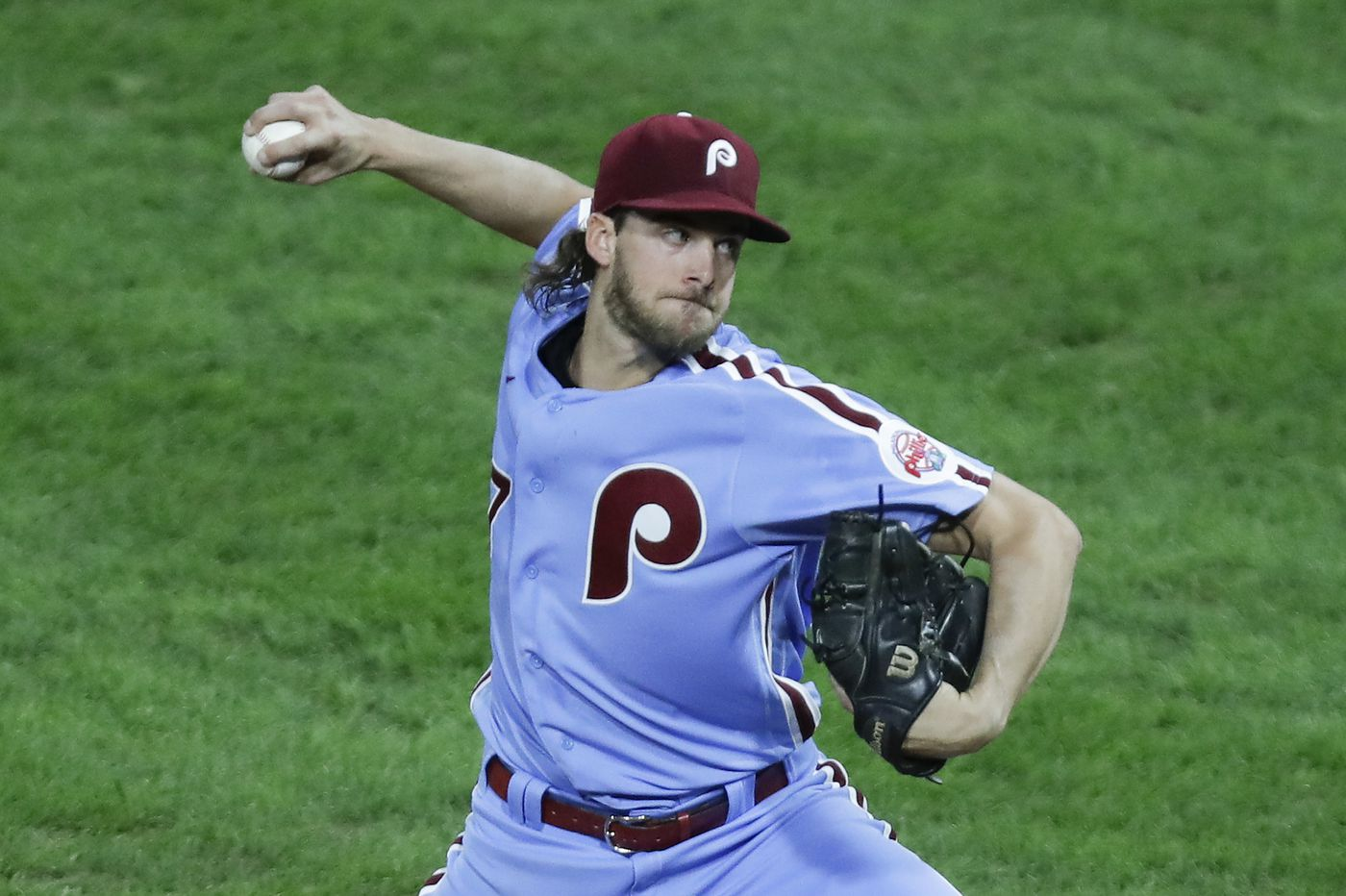 Phillies' faint playoff hopes ride on the arm of Aaron Nola today, and he's faltered in Septembers past