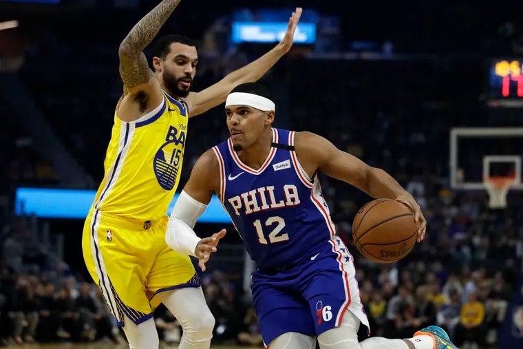 Tobias Harris (12) and the Sixers benefit more than any other team from playing at a neutral site because of their woeful road record.