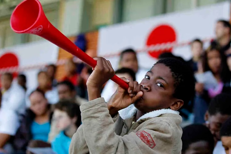 The vuvuzela, a plastic trumpet favored by South African World Cup fans, spawned another term - Vuvu-stoppers.