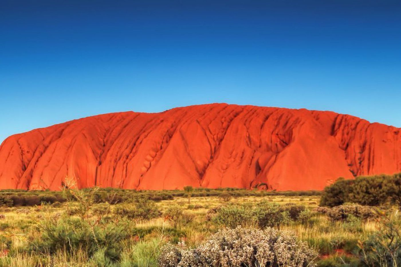 A human traffic jam as climbers converge at Australia's Uluru before ban takes affect