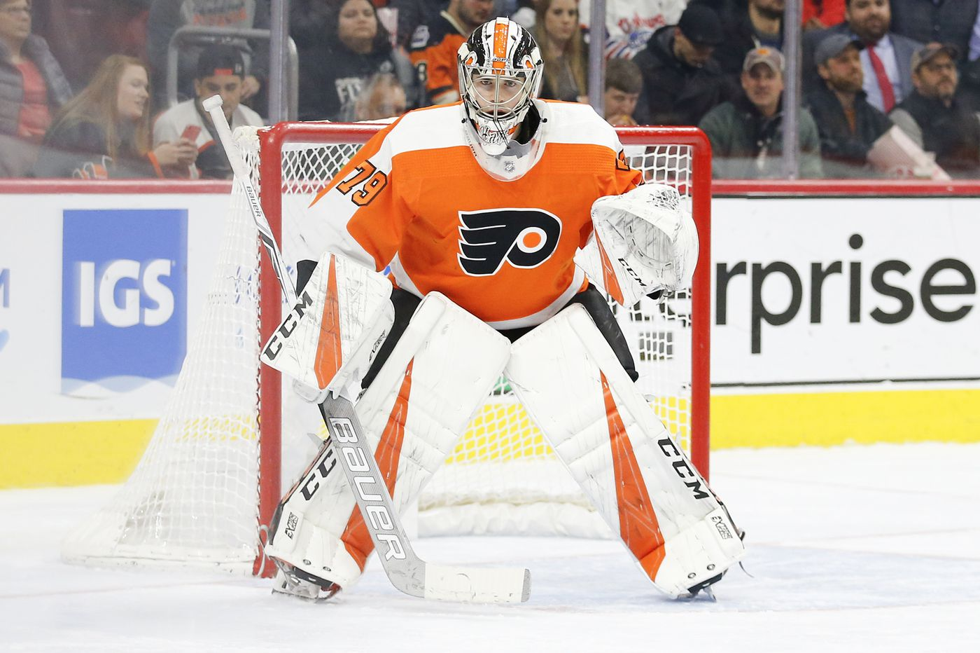 Should promising young goalie Carter Hart stay with the Flyers?