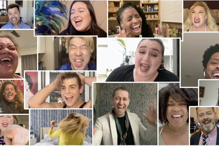 """Dozens of actors and dancers participated in the Zoom production of """"You Can't Stop the Beat."""" Small businesses are looking for creative ways to build staff morale during the pandemic."""