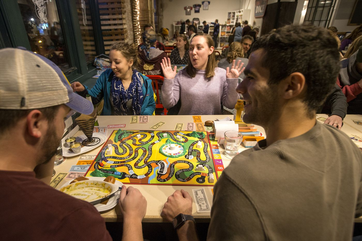 my utterly strange night at philly s first board game bar thirsty dice