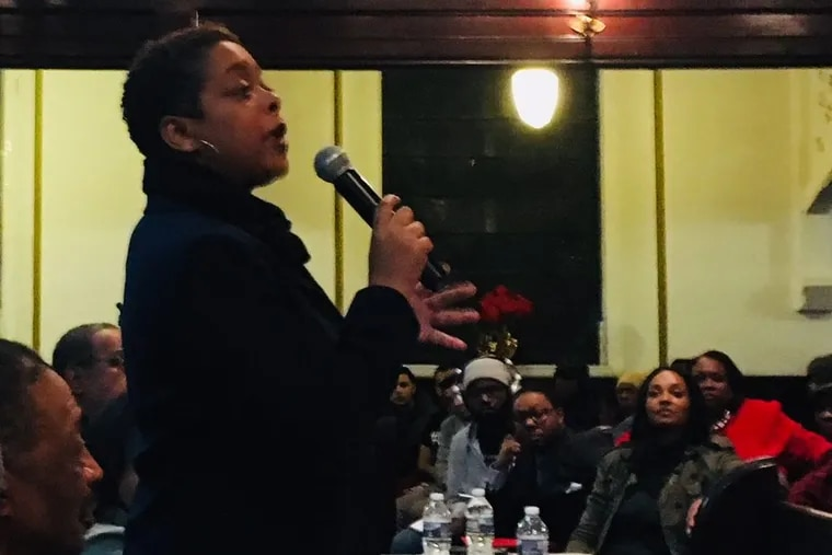 Councilwoman Cindy Bass at a forum on safe injection sites on Friday, February 9, 2017.