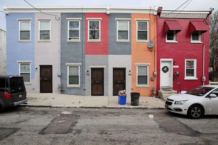 Nearly 70 percent of Philadelphia's homes are classified as rowhouses — and each of them are unique. Still, many are aging and are in need of repairs. These homes, along the 3800 block of Melon Street in Mantua received an exterior spruce-up a few years ago as part of the city's Mural Arts Program.