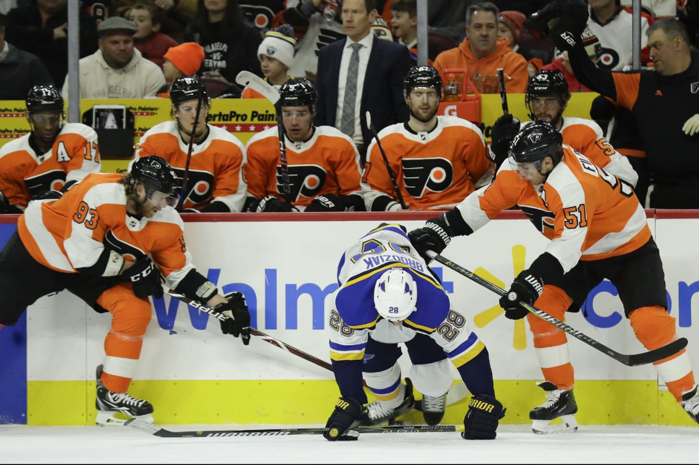 In NHL debut, Tyrell Goulbourne sparks Flyers past Blues