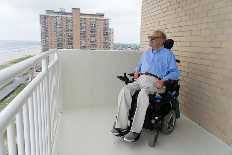 Dr. Dan Gottlieb poses for a portrait, on the balcony of his home in Atlantic City, New Jersey on Thursday, August 15, 2019. Gottlieb, an award-winning psychologist and former host of a popular WHYY radio show on mental health, was sexually abused by his Boy Scout troop leader and teacher when he was 12 years old.