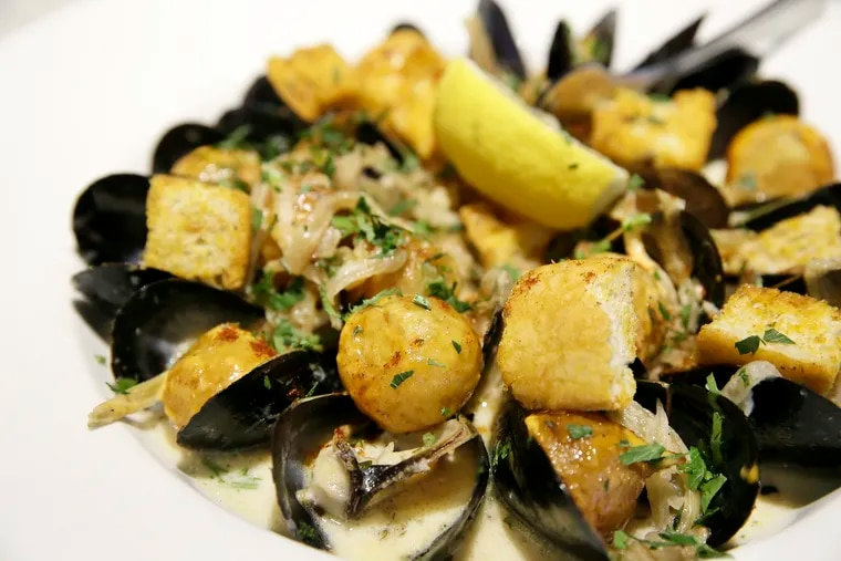 Mussels and frites at Beachwood, which has a seafood-focused menu.