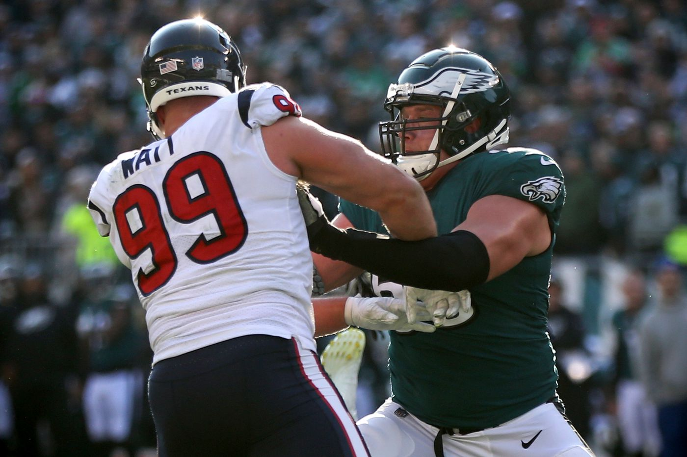 Why Lane Johnson slept over in the Eagles' locker room days before beating the Texans | David Murphy