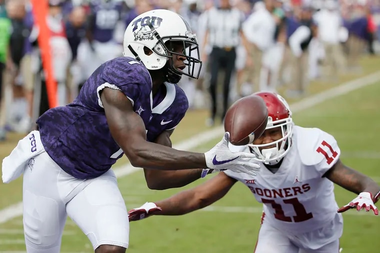 The Eagles selected wide receiver Jalen Reagor out of TCU with the 21st pick in the NFL draft Thursday night.
