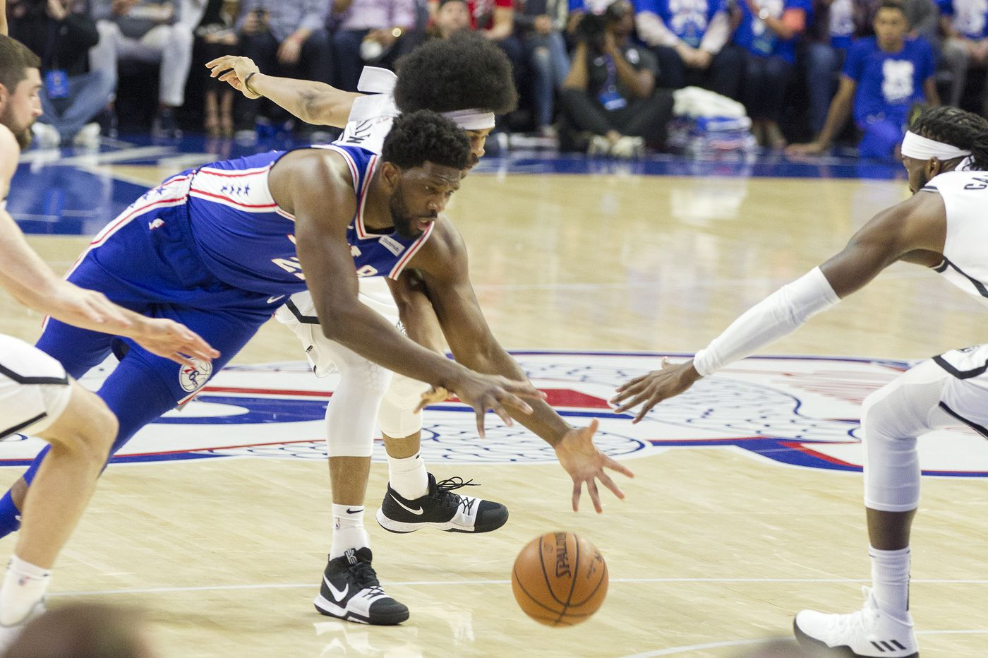 Sixers' Joel Embiid listed as questionable for Game 2 vs. Nets