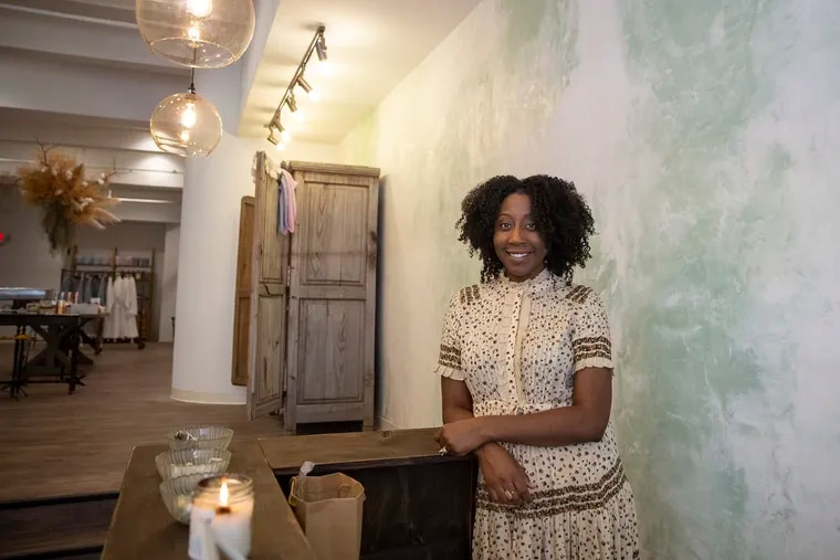 Owner Jenea Robinson poses for a portrait inside her new store Marsh + Mane on the day of its grand opening at 529 S. 4th Street on Thursday, Dec. 13, 2018. The store sells natural hair care products for African American women as well as a few products for men. HEATHER KHALIFA / Staff Photographer