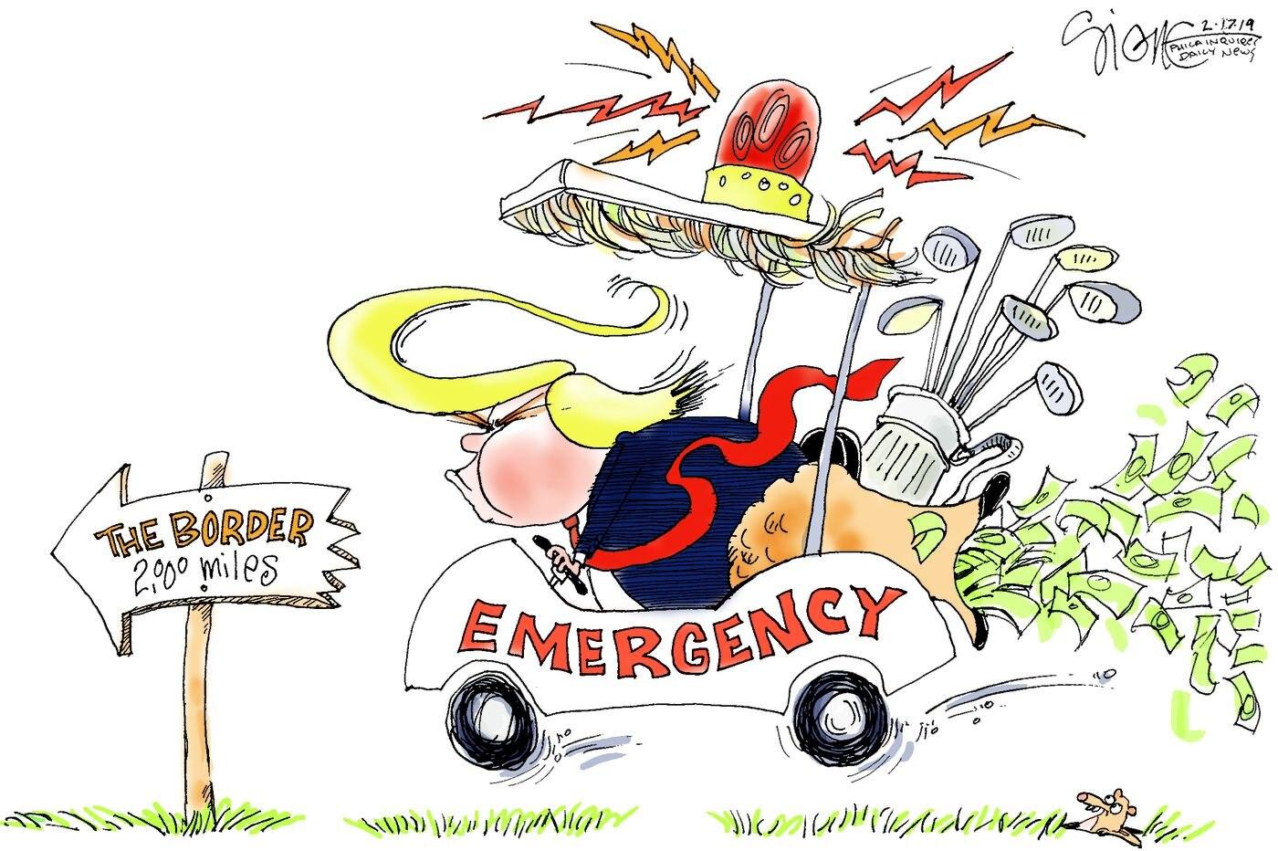 Political Cartoon: Emergency Vehicle