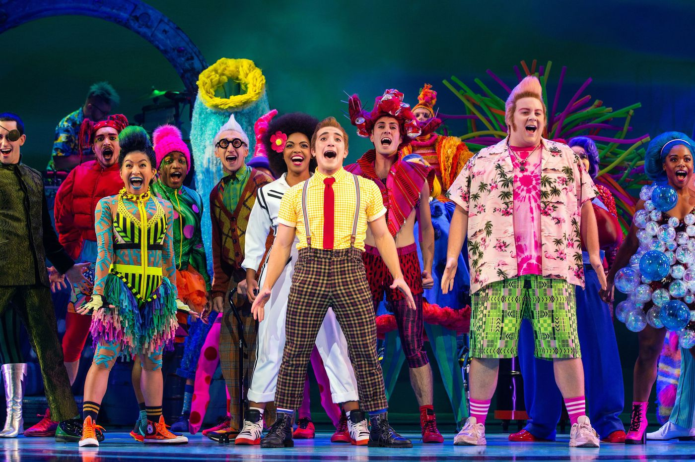'The SpongeBob Musical' at Forrest Theatre is gloriously giddy, and smart, too