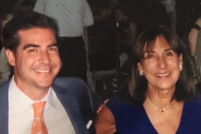 Fox News host Jesse Watters alongside his mom, Anne Bailey Watters.