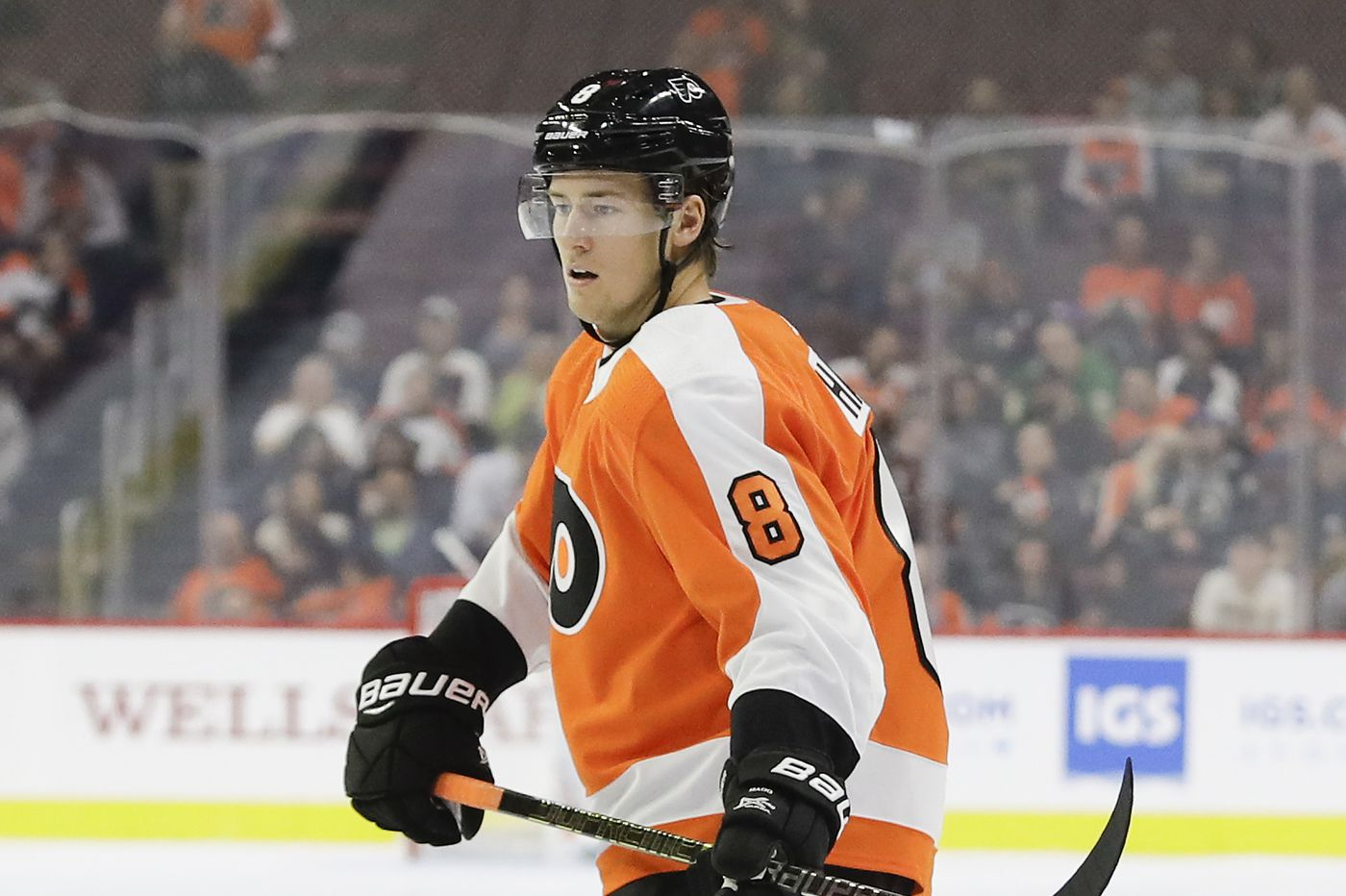 Robert Hagg, battling for spot, plays well in Flyers' preseason loss to Isles; Carter Hart shines