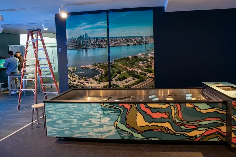 """""""River Alive!"""" underconstruction at the Independence Seaport Museum"""
