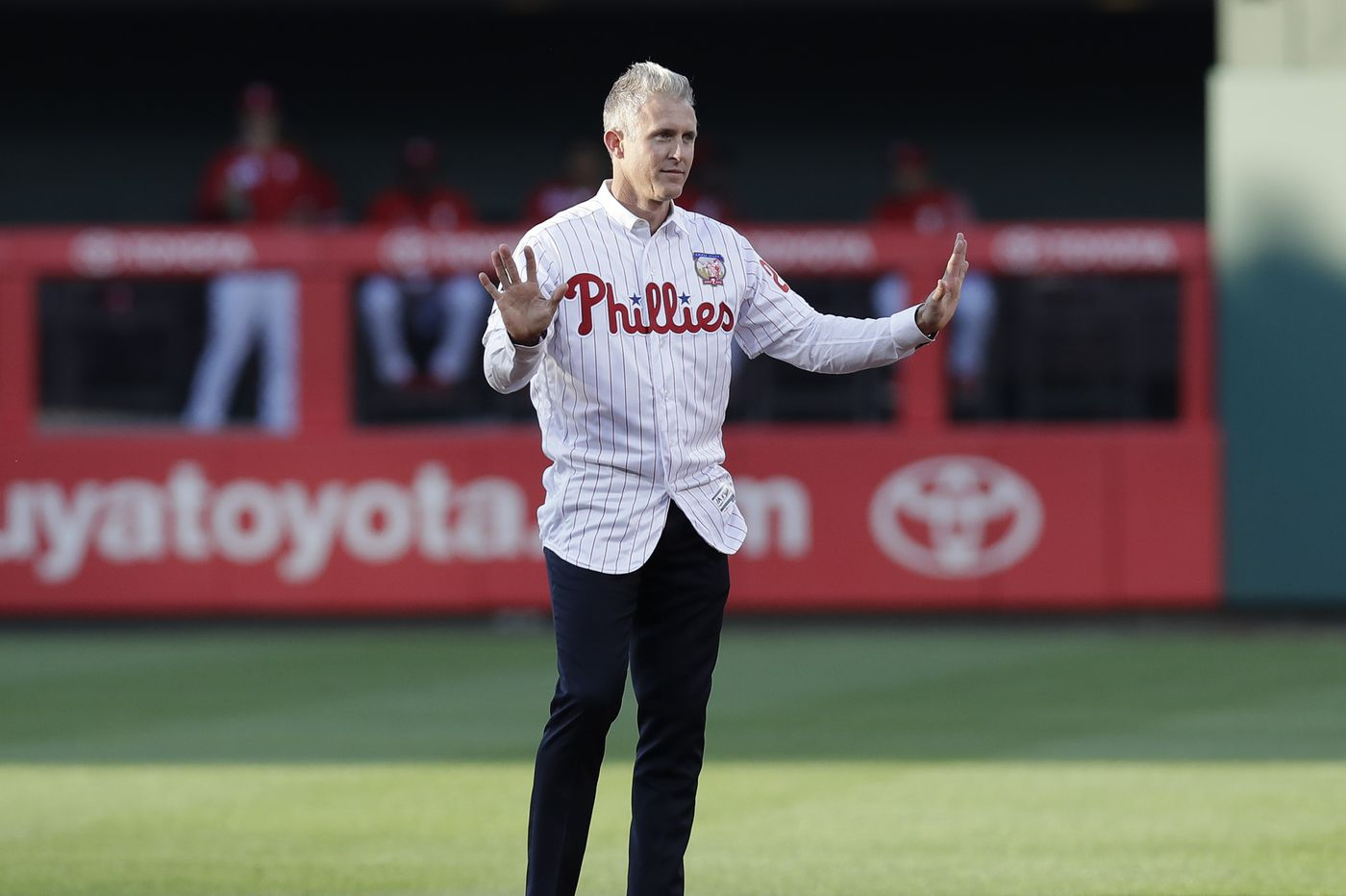 buy popular 6cb17 56dc9 Phillies honor Chase Utley's retirement at Citizens Bank Park