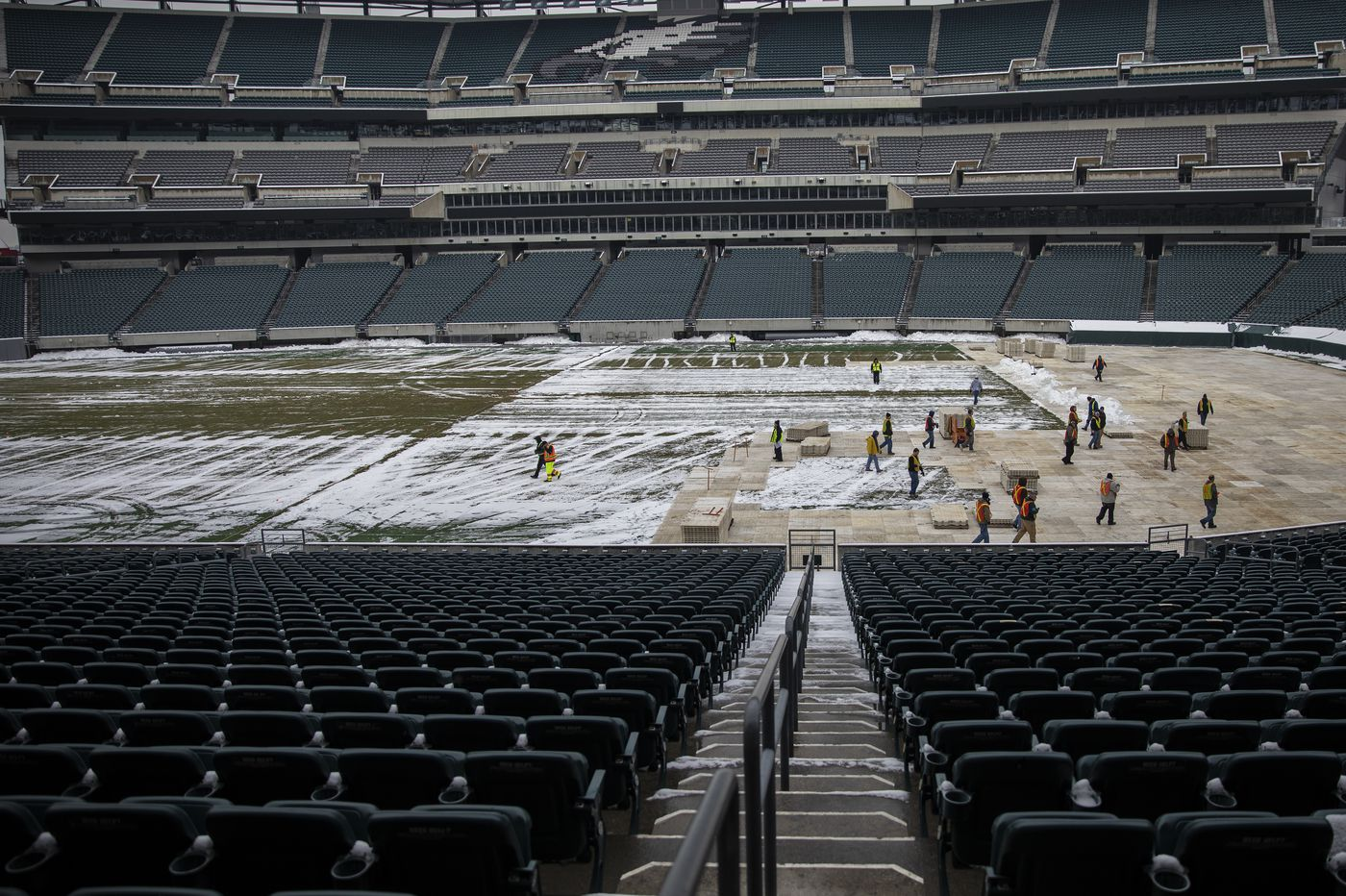 NHL begins prep for Flyers' Stadium Series game vs. Penguins at Lincoln Financial Field